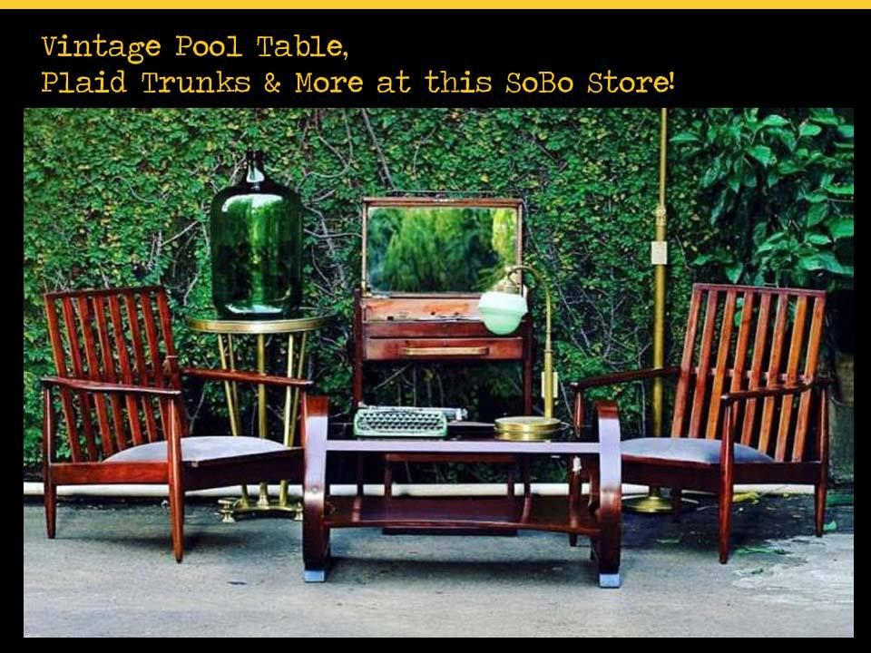 Vintage Pool Table, Plaid Trunks & More at this SoBo Store! Address ...