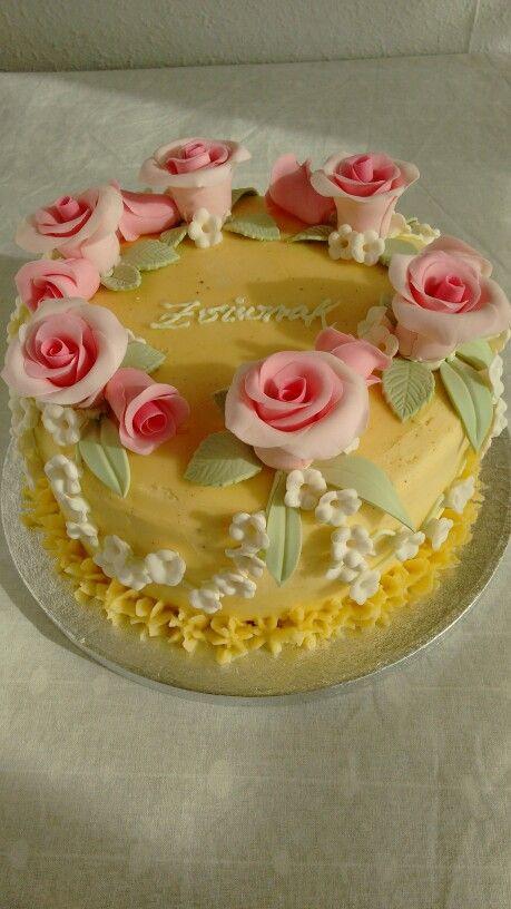 """Segùn el libro de Peggy Porschen, """"Cakes in Bloom"""". Mi versión."""
