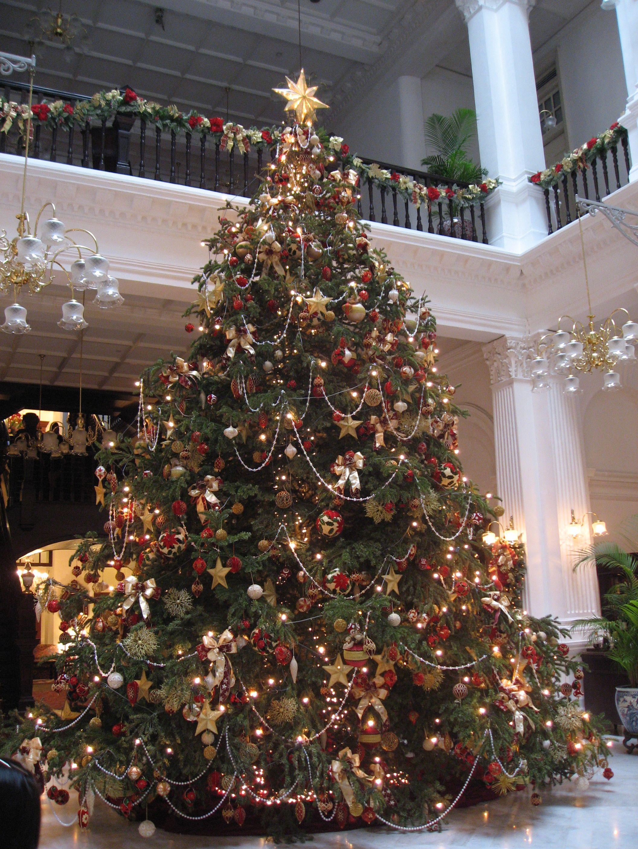 Raffles Hotel Singapore Christmas Tree Christmas Decorations Christmas