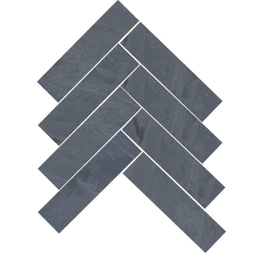 Brazilian Black Montauk Black Hampshire Cleft Slate Herringbone Tile 6 X24 Herringbone Tile Black Floor Tiles Slate Tile Floor