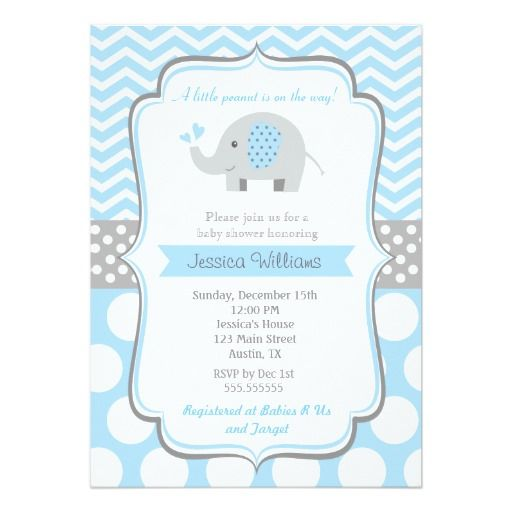 Boy Elephant Baby Shower Invitations Zazzle Com Chás De Fraldas Com Elefante Convite Cha De Fralda Chá De Bebê Elefante