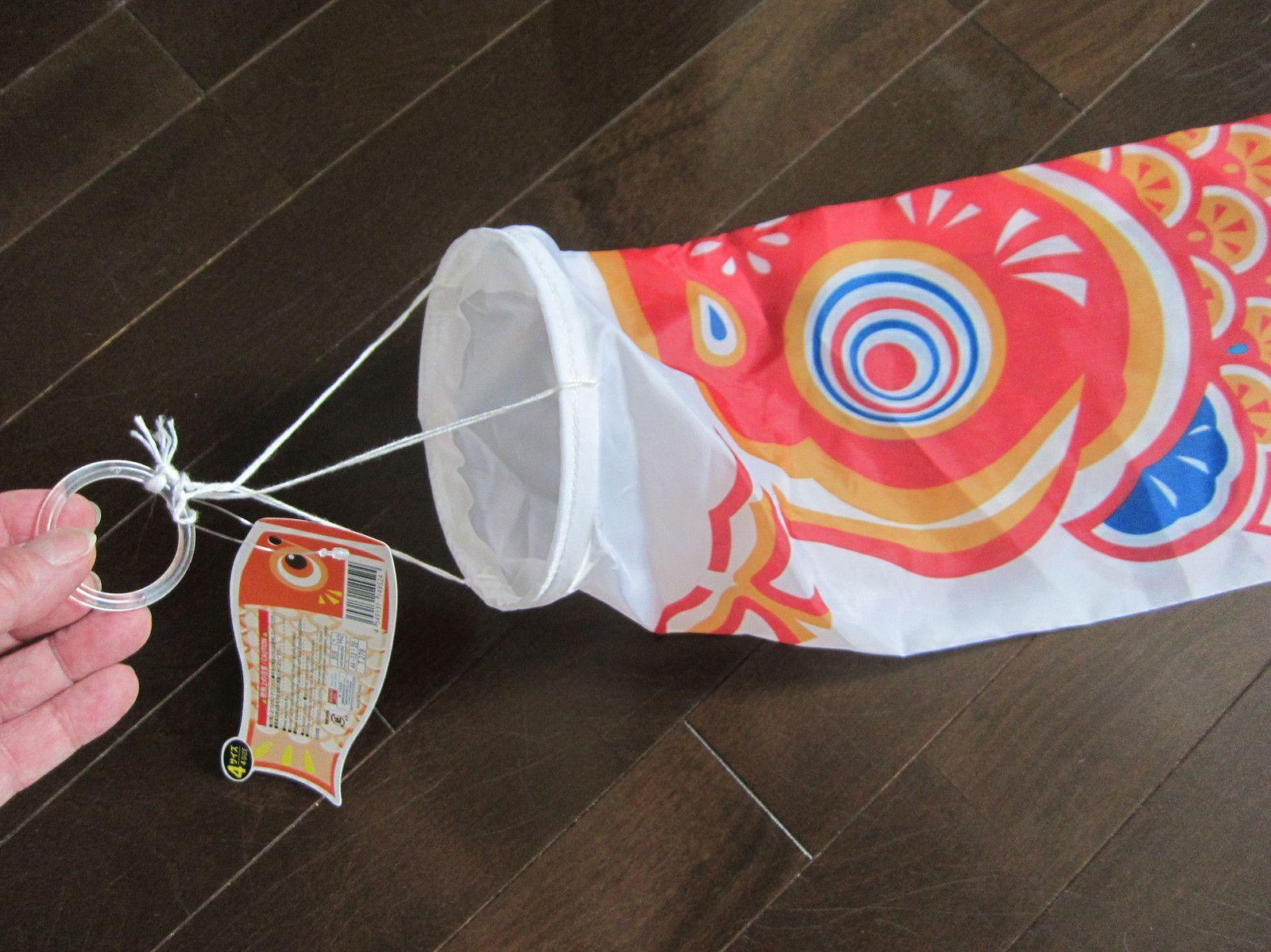 Big japanese koi carp fish windsock kite nylon with wire for Japanese koi windsock