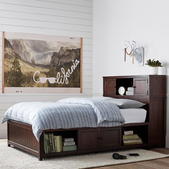 Beadboard Storage Bed, Twin, Dark Espresso images
