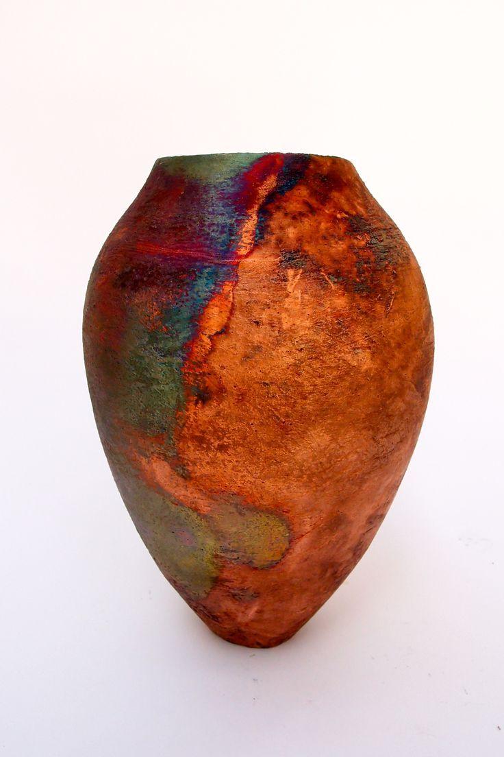 Copper mat raku by Tim Betts at the Raku Garden