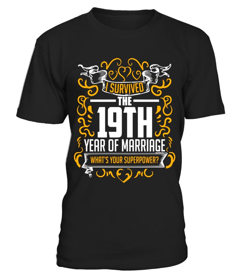 19th wedding anniversary gifts 19 year t shirt for her
