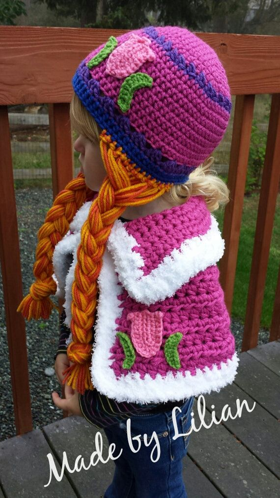 Crochet Pattern only- 2 piece-crochet Cape and pink tulip princess ...