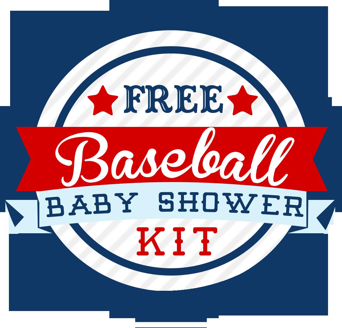 Baseball Themed Baby Shower Kit Free