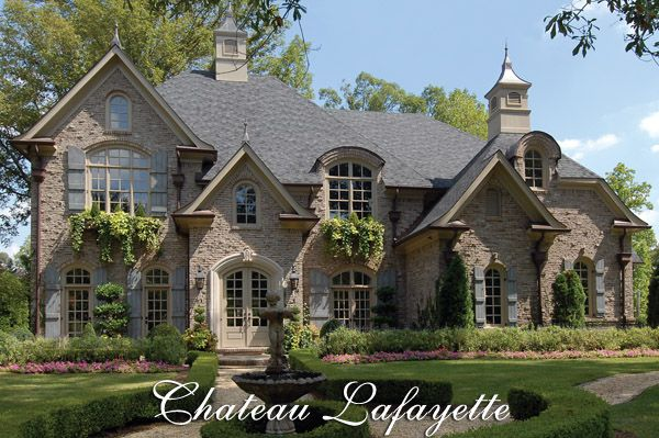 I Love Everything About This Exterior The Window Boxes Shutters Stone Windows However French Country House Plans French Country House Luxury House Plans