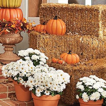 Faux Hay Bale Hay bales and Halloween horror