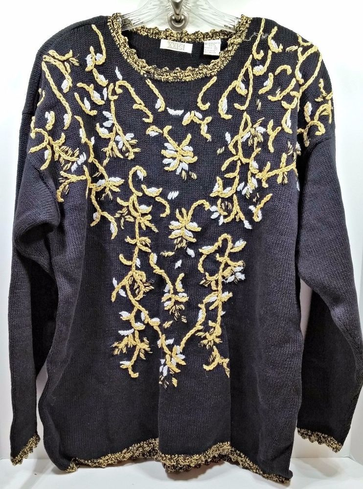 shop ebay ugly christmas sweater holiday party fun mens xl womens plus m shoulder pads a7 - Ebay Ugly Christmas Sweater