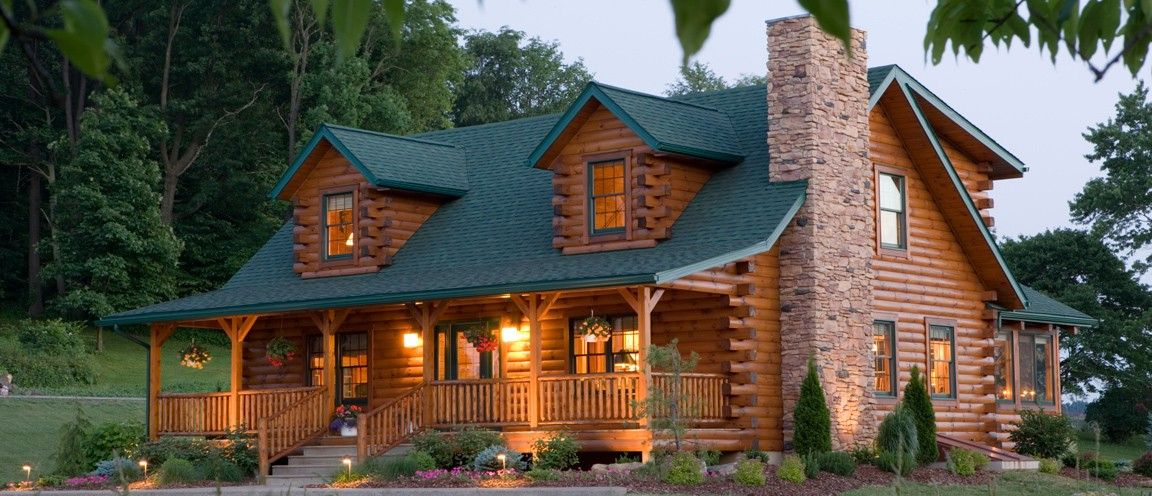 Log homes southland log homes offers custom log homes for Big log homes