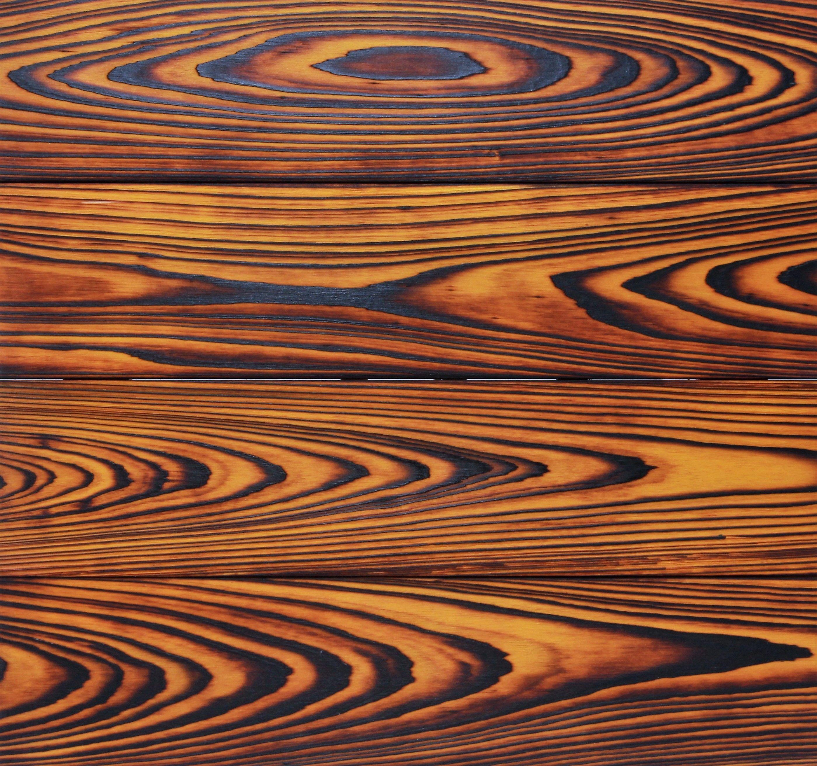 Yellow Shou Sugi Ban Charred Wood Cypress Is Burned