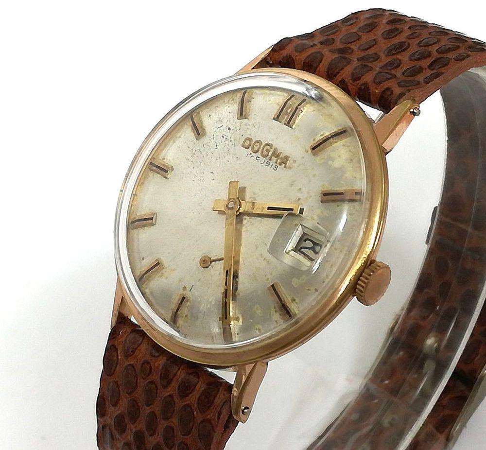 71cf0cf5e08e Reloj hombre DOGMA Original de cuerda 33mm Vintage años 60's cal AS ...