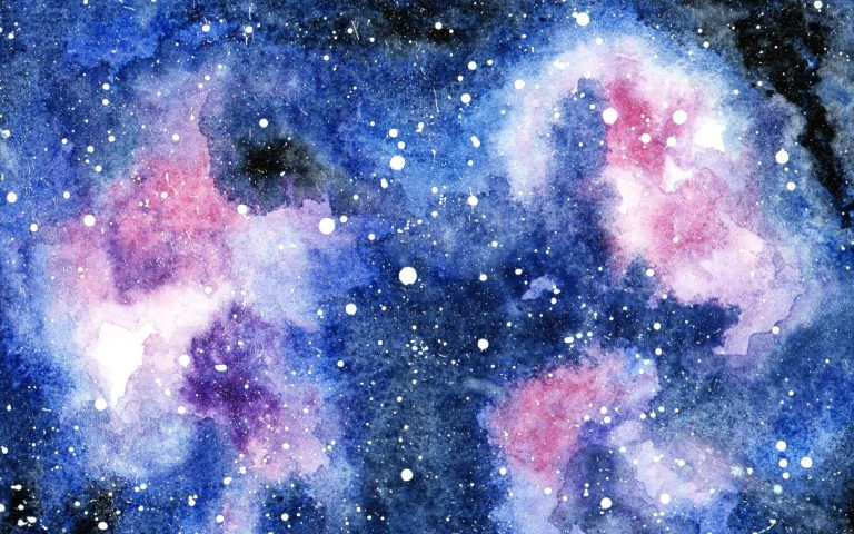 Galaxie In Aquarell Wolke Kunst Urlaub Am Meer Und Aquarell