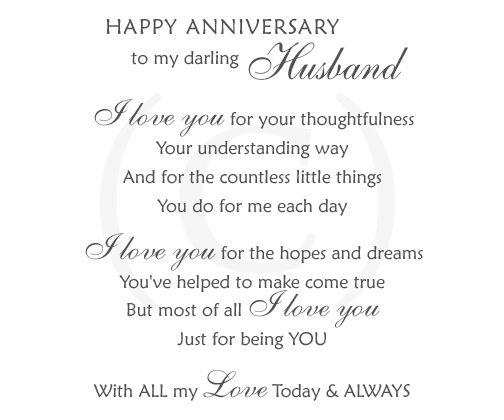 happy anniversary greetings to husband