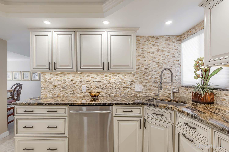 Springfield Maple Antique White Chocolate Glaze Corner Sink Kitchen Antique White Kitchen Kitchen