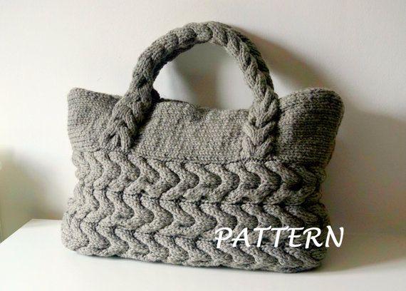 Knitting Pattern Cable Bag Knitting Pattern Knit Bag Pattern Bag