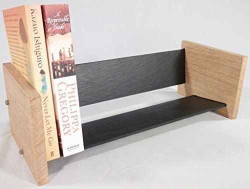 Oak Slate Design Book Rack Modern Contemporary Style Oak Slate
