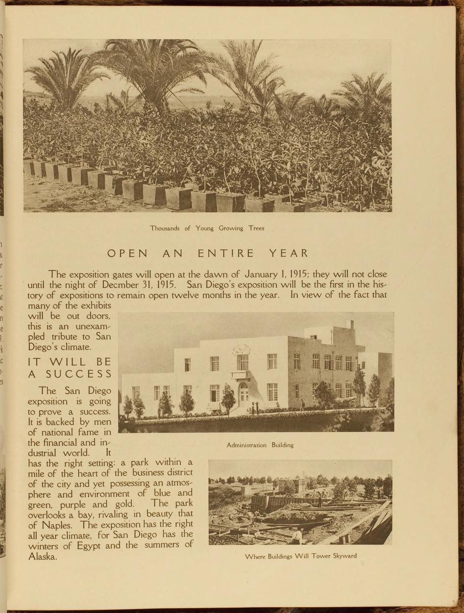 Makers of San Diego 1915 Panama-California Expo...