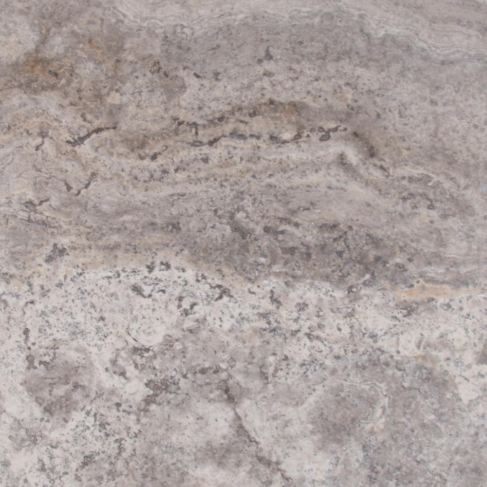 Msi Silver 18 In X 18 In Honed Travertine Floor And Wall Tile Ttsiltr1818hf The Home Depot Travertine Floors Flooring Silver Travertine Tiles