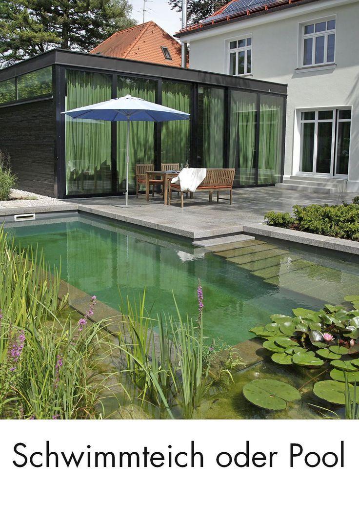 Schwimmteich Pool Garten Haus Schwimmbad Schwimmen Wasser Teich Nicht Entscheiden Sie Konnen Nicht En In 2020 Schwimmteich Kleiner Hof Garten Teich