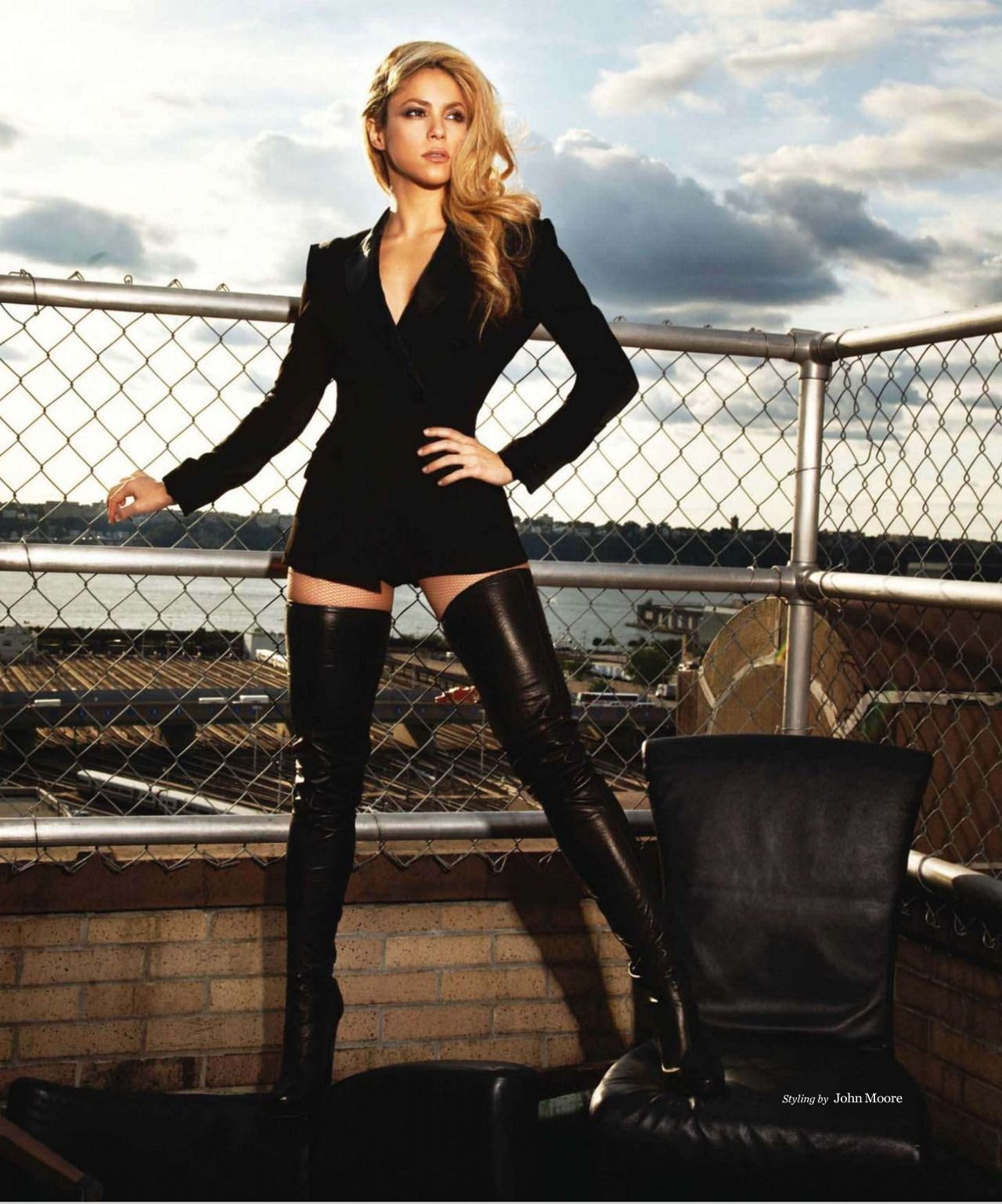 Sexy blonde model wearing black thigh high boots | Thigh High ...