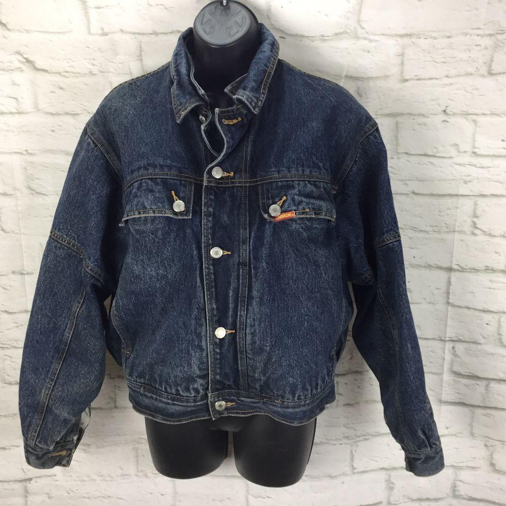 32e566981 Vintage Jordache Jean Denim Jacket Womens M Medium Sherpa lined Button  front #Jordache #Bomber