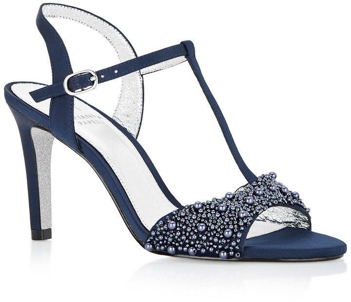 58e64db723caa3 Adrianna Papell Alia T-Strap Beaded High Heel Sandals