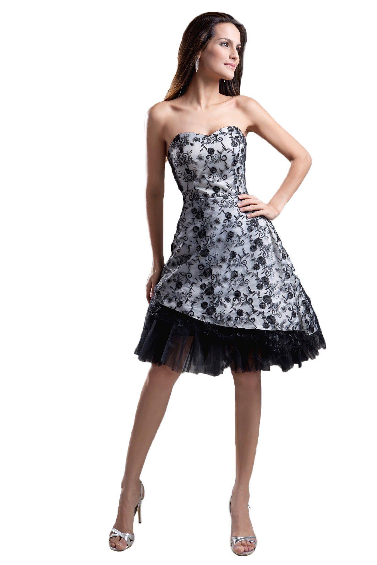 Snowskite womenus sweetheart short black lace prom formal cocktail
