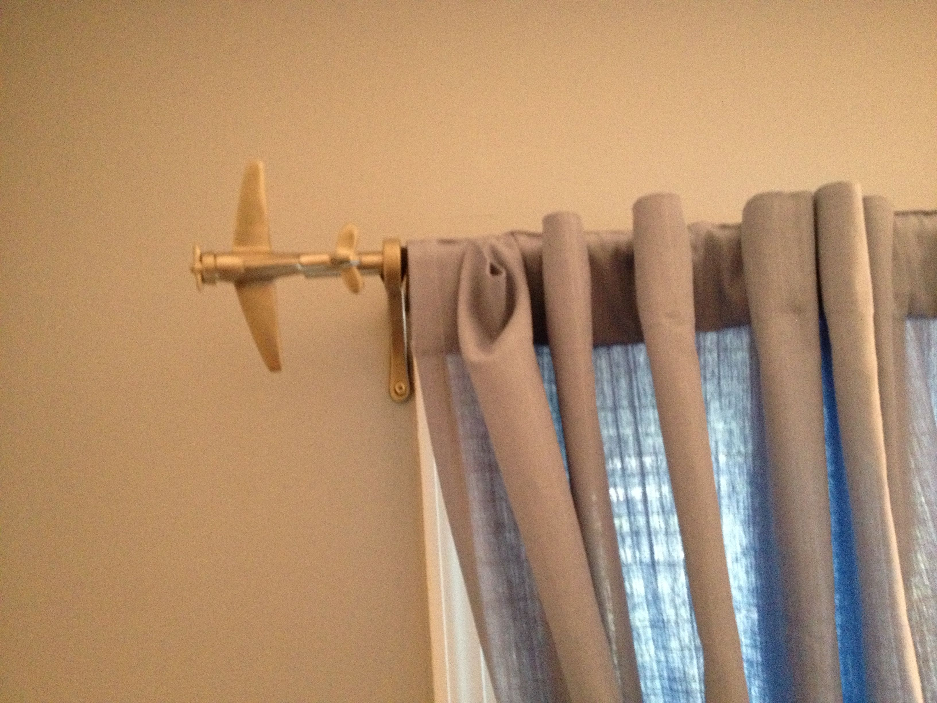 Airplane Curtain Rods Pottery Barn Kids Nursery