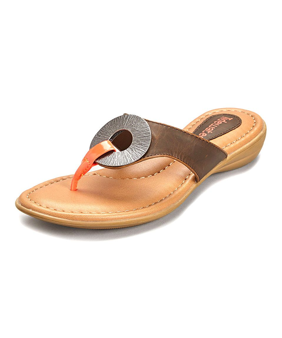 4b99129b8f0f8 Tidewater Sandals Brown Rumson Sandal - Women by Tidewater Sandals   zulilyfinds