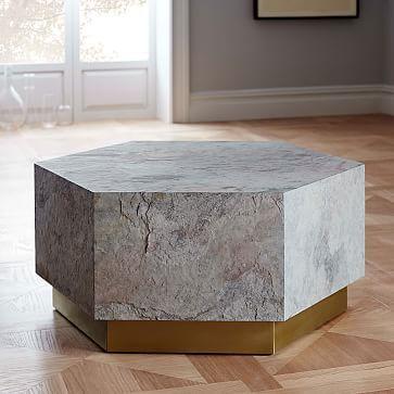 Geo Hex Coffee Table Westelm Dental Office Pinterest Geo - Hexagon wood coffee table
