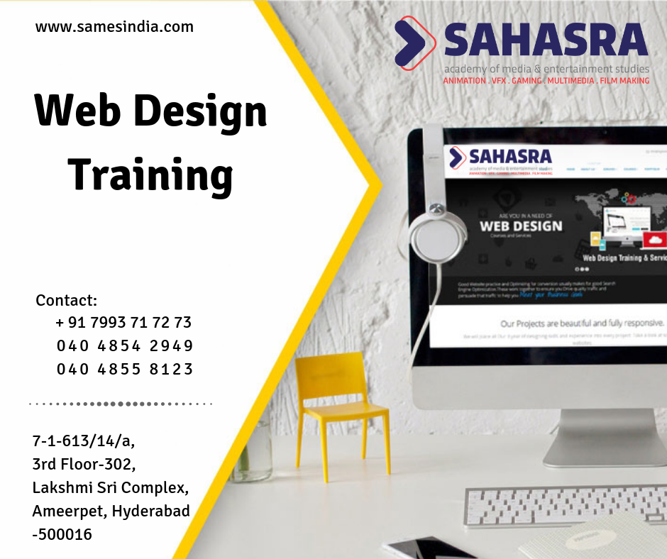 Bulid A Career In Graphic And Web Designing Sahasra Academy Of Media Entertainment Studies Offers Web Design Traini Web Design Training Web Design Graphic