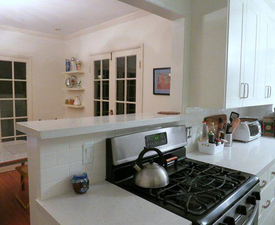 incredible kitchen half wall   Pat's Fresh Start — Small Cool Kitchens 2013   The Kitchn ...
