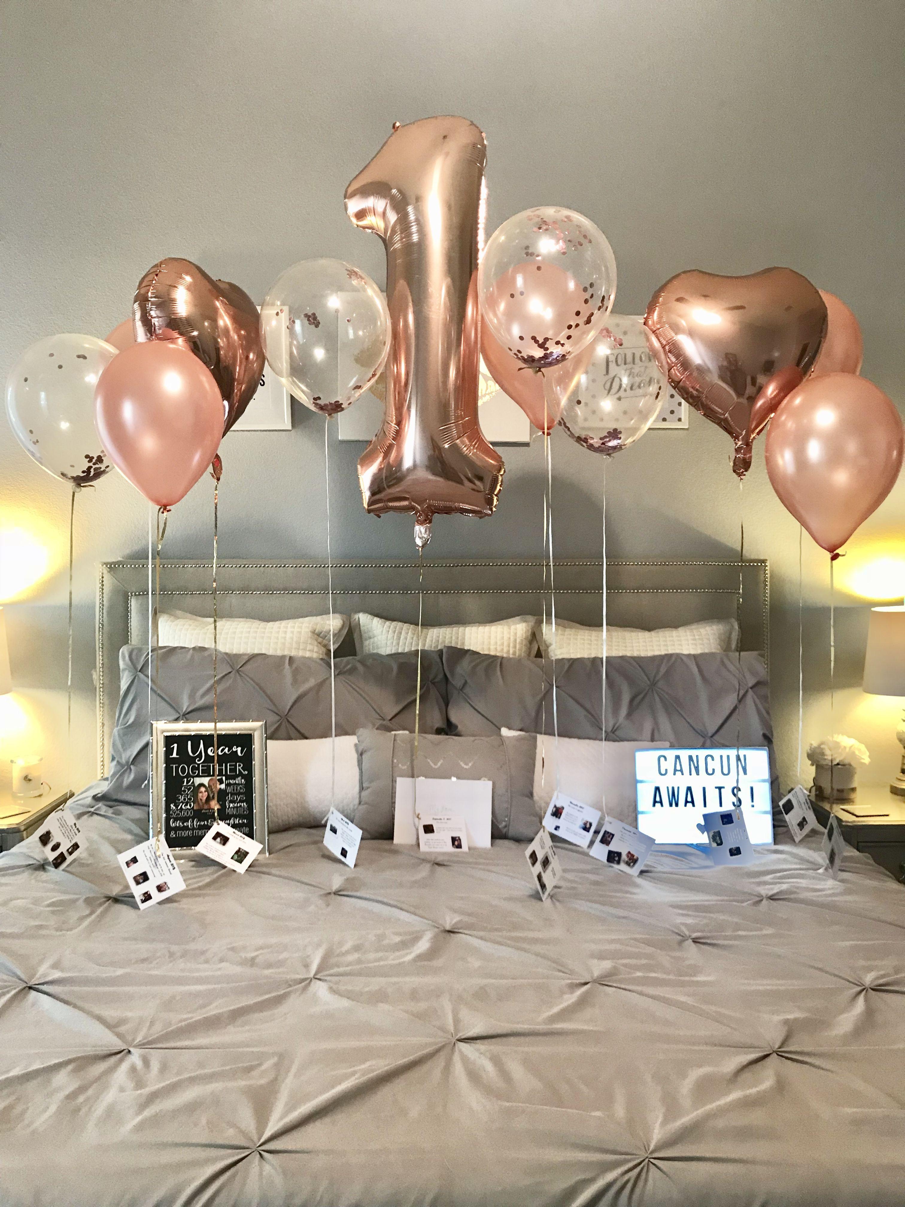 1 Year Anniversary Anniversary Decorations Boyfriend Anniversary Gifts First Wedding Anniversary