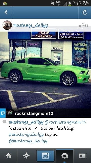 My car is so famous on instagram :)#mustang_dailyy One hot 5.0 :)