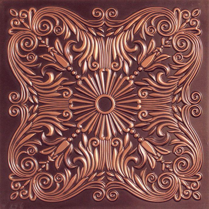 """Decorative Tin Tiles Inspiration Faux Tin Ceiling Tile  24""""x24""""  #252  Faux Tin Ceiling Tiles Decorating Design"""