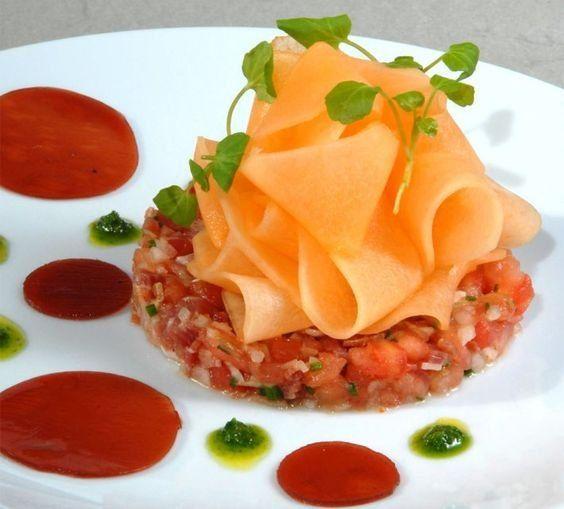 La Recette: Tartare De Jambon à La Tomate Et Au Melon
