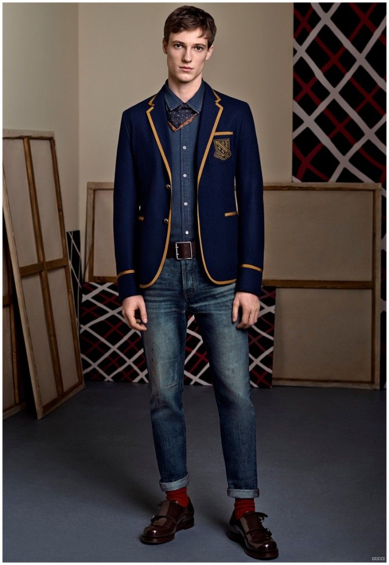 Gucci Pre-Fall 2015 Menswear Collection Casual Chic + Equestrian Styles Charm | Male editorial