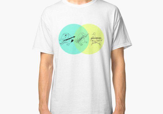 Keytar Platypus Venn Diagram Classic T Shirt Venn Diagrams And