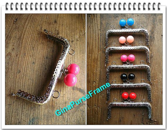 5pieces 5inch 12.5cm Candy bead bag purse metal by GinaPurseFrame, $20.00