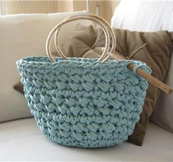 6a296f418 Cómo hacer bolsos de trapillo paso a paso: Patrones y materiales ...