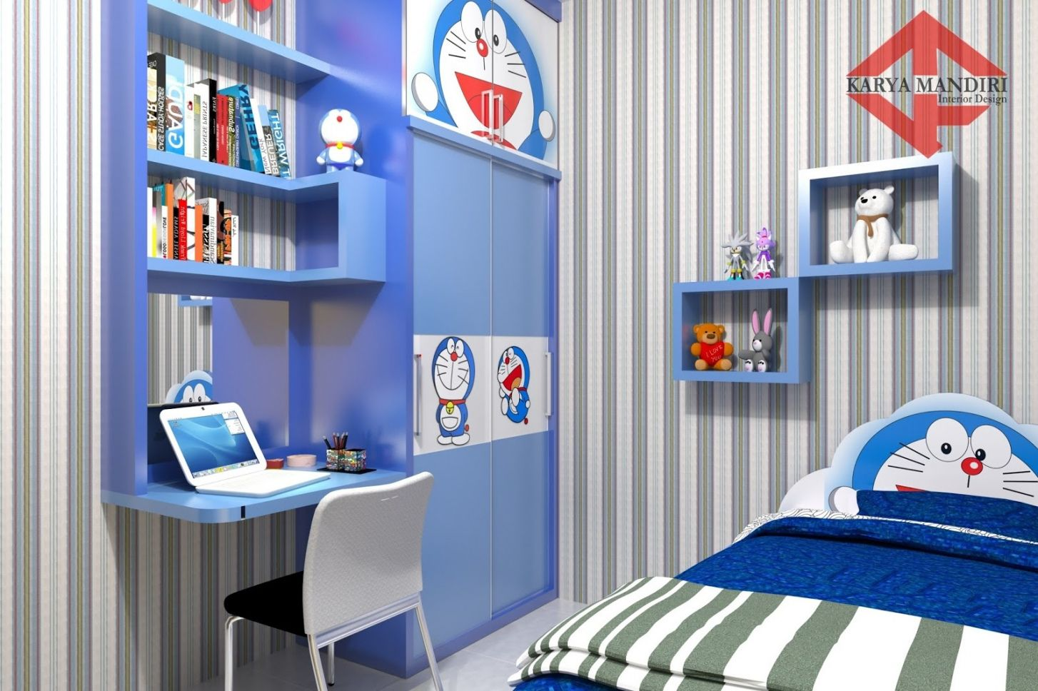 Ruang Belajar Siswa Kelas 10 Desain Kamar Tidur Anak Perempuan Doraemon