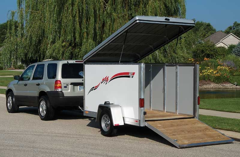 Travel Trailers View Topic Enclosed 5x8 Cargo Camper Build Cargo Trailer Conversion Enclosed Trailers Enclosed Trailer Camper