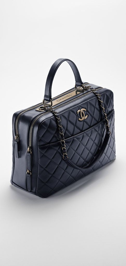 048b59628e38 Lambskin bowling bag embellished... - CHANEL