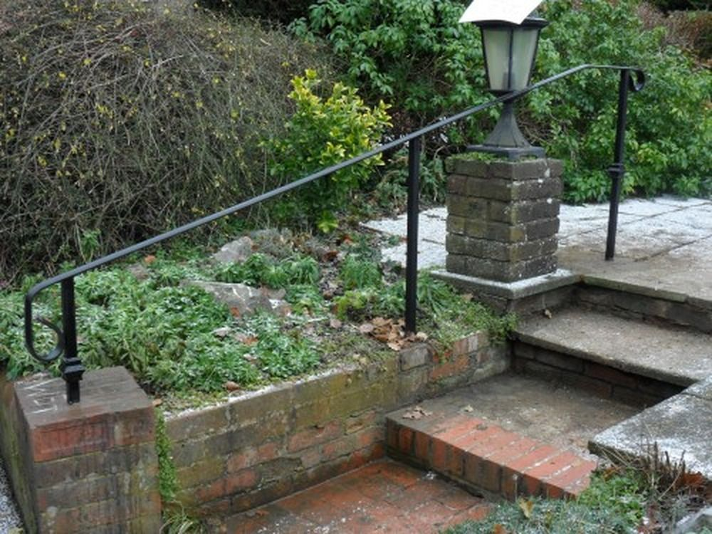 Image result for outdoor stair railing Gardening Pinterest