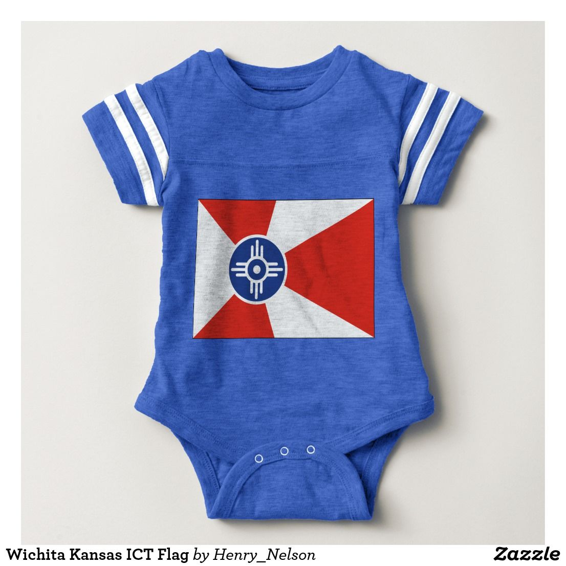 Wichita Kansas Ict Flag Baby Bodysuit