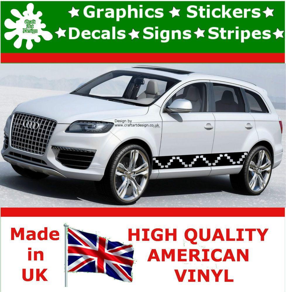 Car Racing Stripes Sticker Set Vinyl Art Graphics Decal Auto Rally - Vinyl graphics for cars