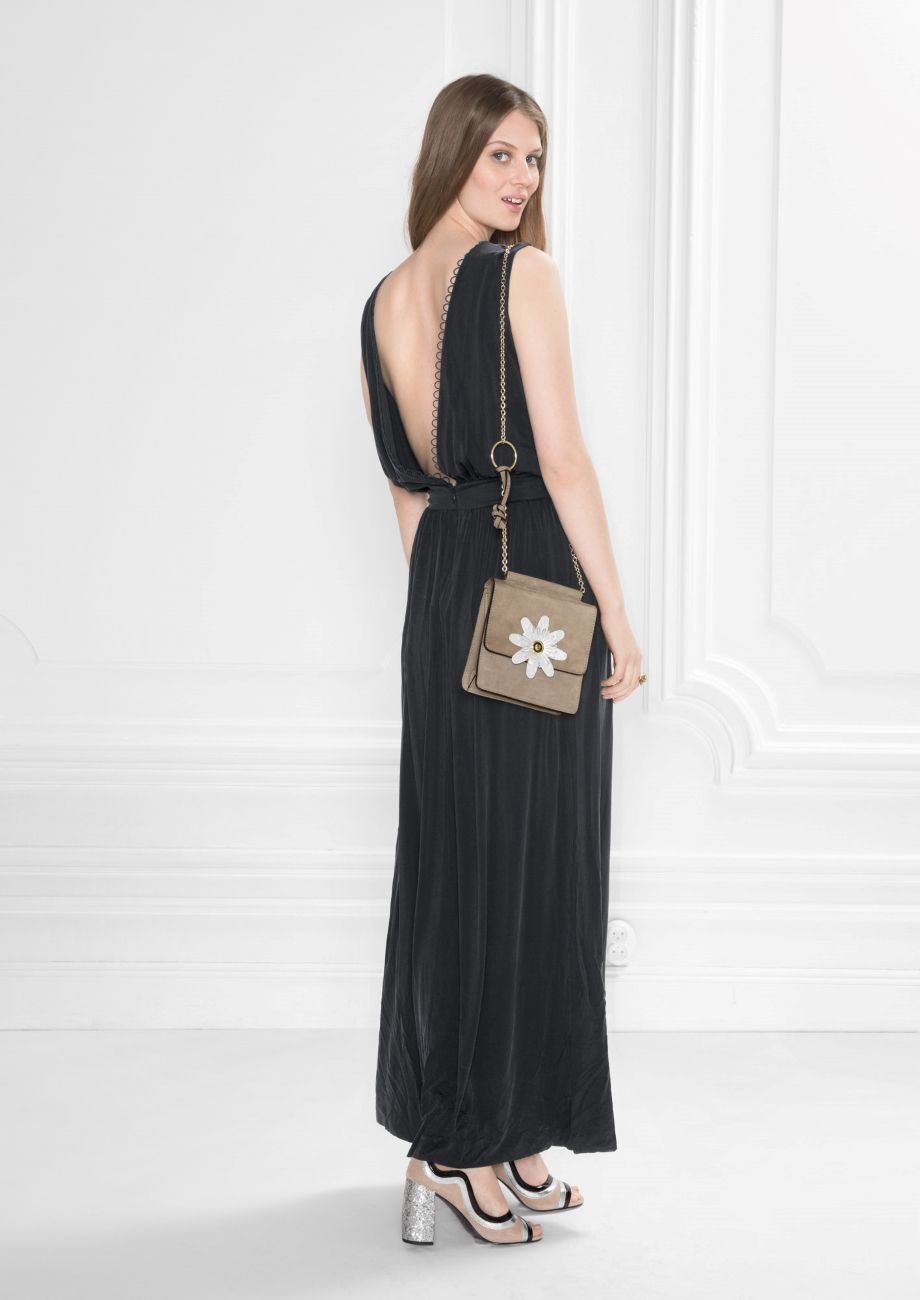Other Stories Image 2 Of Cupro Maxi Dress In Black Dresses Maxi Dress Black Maxi Dress