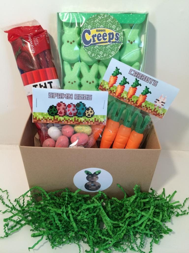 Minecraft easter basket awesome ideas pinterest easter minecraft easter basket negle Images